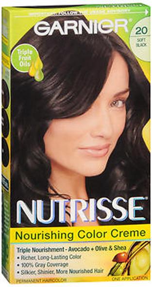 Garnier Nutrisse Permanent Hair Color Kit Soft Black