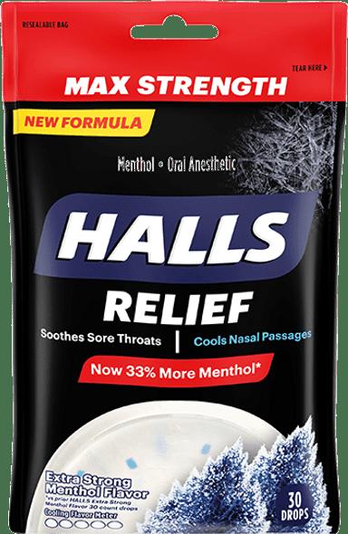 Halls Menthol Oral Anesthetic Drops  - 30 ct
