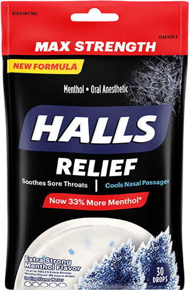 Halls Menthol Oral Anesthetic Drops  - 30 ct