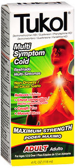 Tukol Cough & Congestion Liquid Extra Strength - 4 oz
