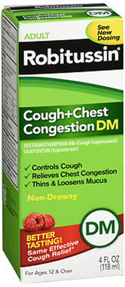 Robitussin Adult Cough + Chest Congestion DM Liquid - 4 oz