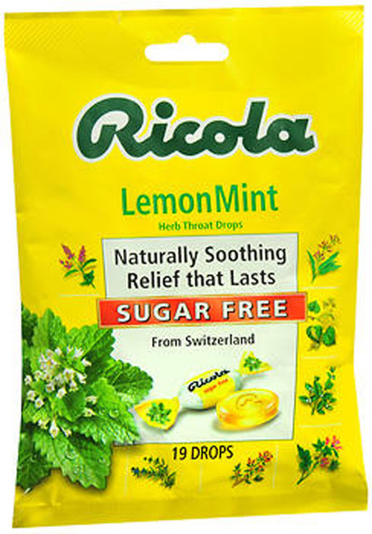 Ricola Sugar Free Herb Throat Drops Lemon Mint - 19 ct