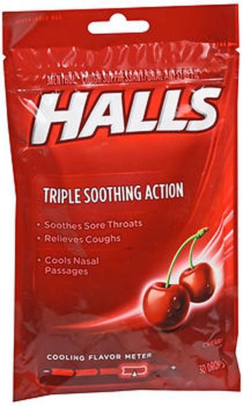 Halls Mentho-Lyptus Drops Cherry - 30 ct