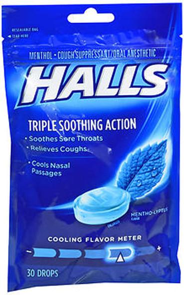Halls Mentho-Lyptus Drops - 30 ct