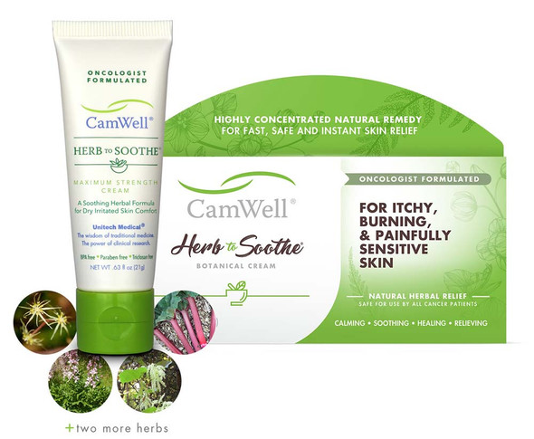 CamWell® Herb to Soothe® Cream for Radiation Burn Skin Care  - .63oz