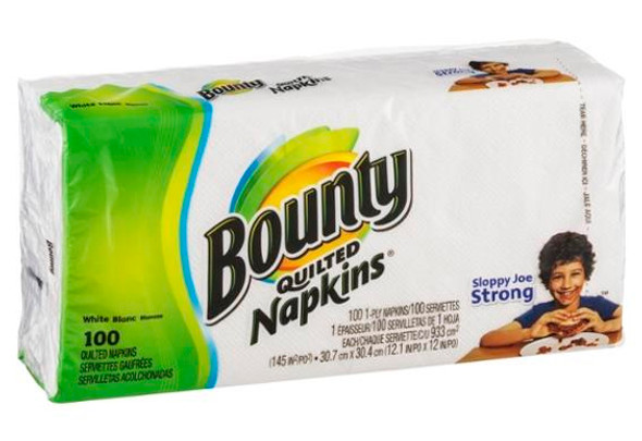 Bounty Quilted Napkins - 100 ct, White