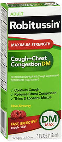 Robitussin Adult Cough + Chest Congestion DM Liquid Maximum Strength - 4 oz