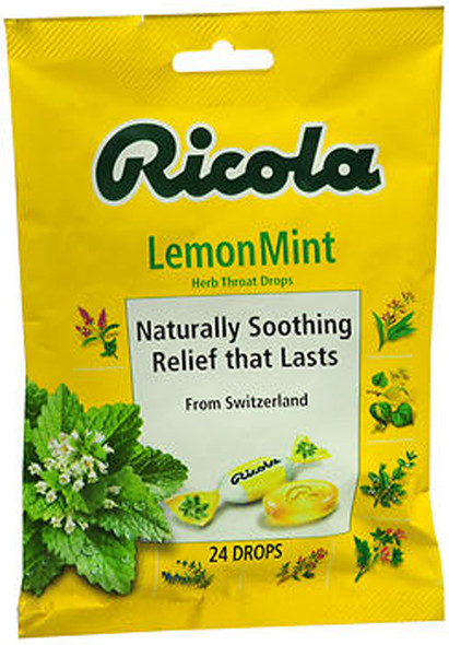 Ricola Herb Throat Drops Natural Lemon Mint - 24 ct