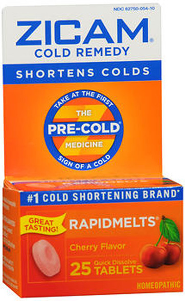 Zicam Cold Remedy RapidMelts Cherry - 25 ct