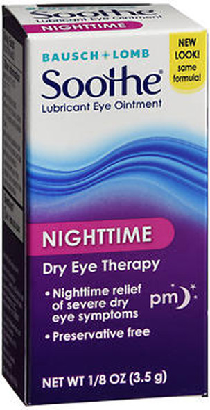 Bausch + Lomb Soothe Lubricant Eye Ointment Night Time  - 0.13 oz