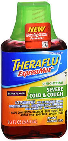 Theraflu Nighttime ExpressMax Severe Cold & Cough, Berry - 8.3 oz