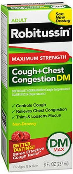 Robitussin Adult Cough+Chest Congestion DM Liquid Maximum Strength - 8 oz