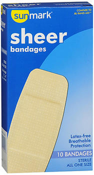 Sunmark Sheer Bandages All One Size - 10 ct