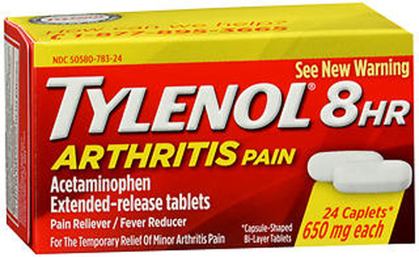 Tylenol 8 HR Arthritis Pain Caplets, 650mg  - 24 ct