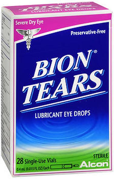 Bion Tears Lubricant Eye Drops Single Use Vials - 28 ct