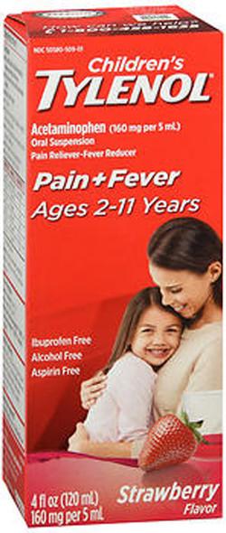 Tylenol Children's Pain + Fever Oral Suspension Strawberry Flavor - 4 oz