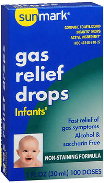 Sunmark Infants' Gas Relief Drops - 100 doses - 1 fl oz