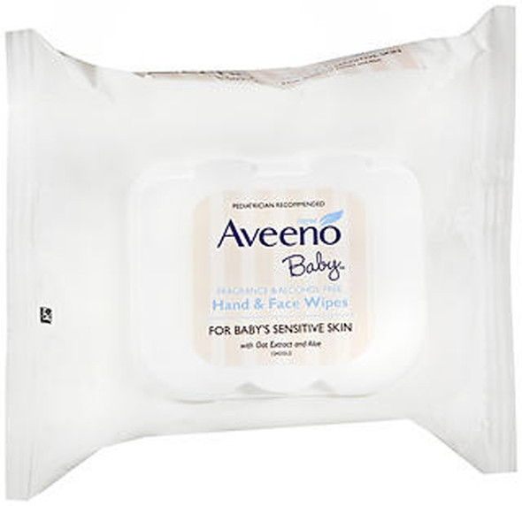 Aveeno Baby Hand & Face Wipes - 25 ct