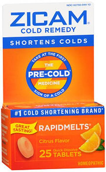 Zicam Cold Remedy RapidMelts Citrus Flavor - 25 ct