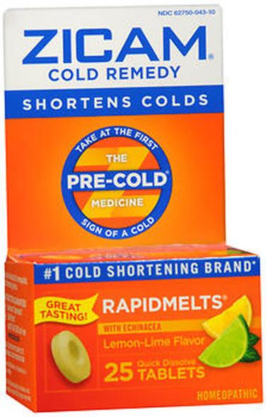 Zicam Cold Remedy RapidMelts Lemon-Lime Flavor - 25 Ct.