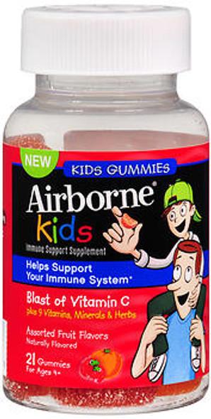 Airborne Kids Immune Support Gummies Assorted Fruit Flavors-21 Each
