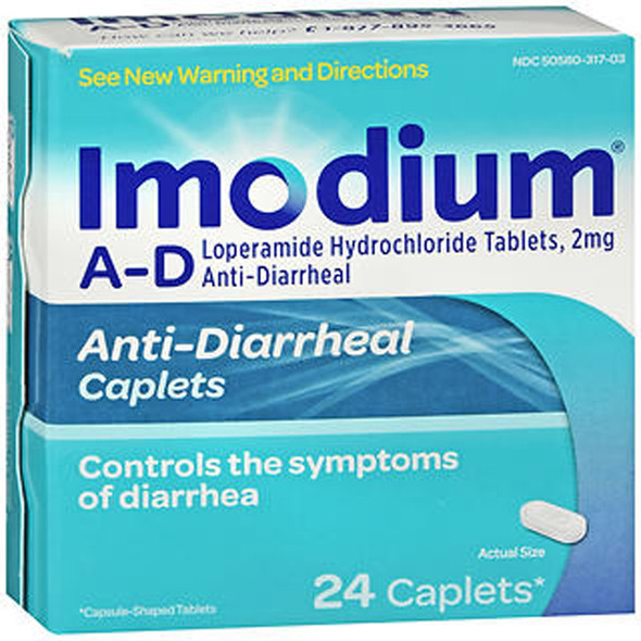 Imodium A-D Caplets - 24 ct