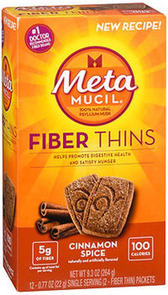 Metamucil Natural Psyllium Fiber Wafers, Cinnamon Spice -  12 ct