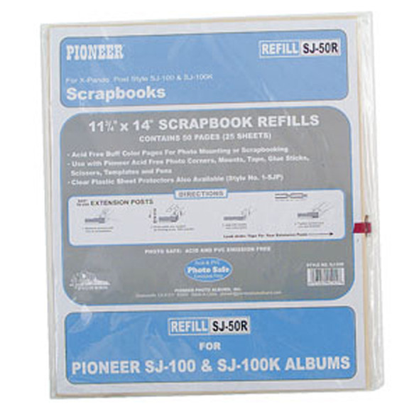 "Jumbo Refill Pages, Scrapbook, Buff, 11"" X 14"