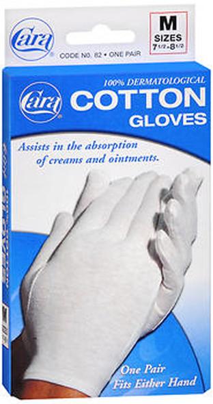 Cara 100% Dermatological Cotton Gloves, Medium - 1 Pr
