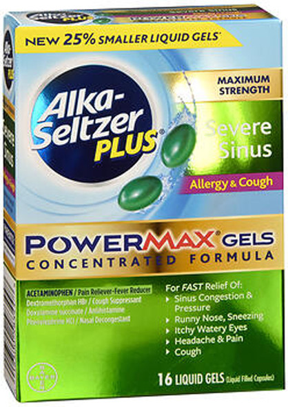 Alka-Seltzer Plus Severe Sinus PowerMax Gels - 16 ct