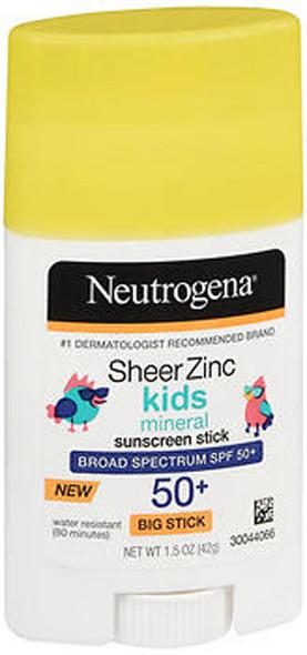 Neutrogena Sheer Zinc Kids Mineral Sunscreen Stick SPF 50+ - 1.5 oz