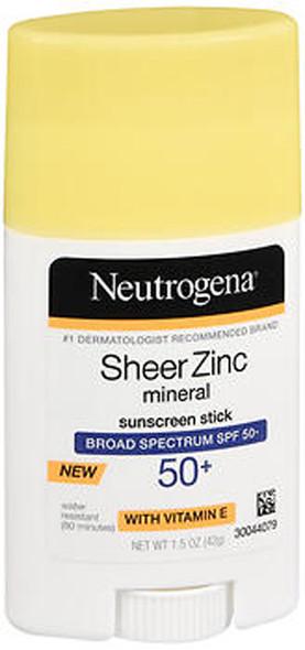 Neutrogena Sheer Zinc Mineral Sunscreen Stick SPF 50+ - 1.5 oz
