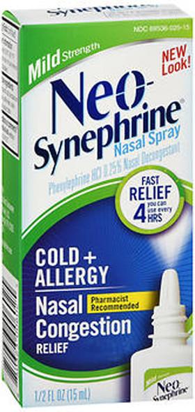 Neo-Synephrine Nasal Spray Mild Strength - 0.5 oz