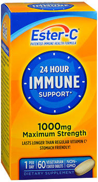 Ester-C 24 Hour Immune Support 1000 mg Maximum Strength Vegetarian Tablets - 60ct