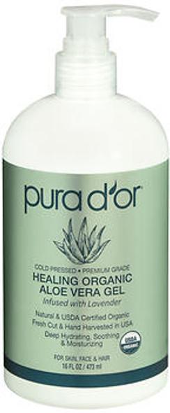 Pura d'Or Healing Organic Aloe Vera Gel - 16 oz