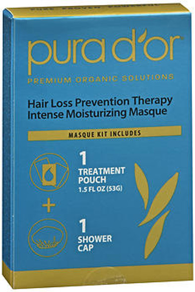 Pura d'Or Hair Loss Prevention Therapy Intense Moisturizing Masque - 1.5 fl oz