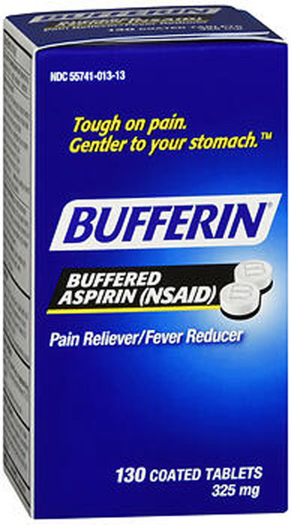 Bufferin Buffered Aspirin 325 mg - 130 Coated Tablets