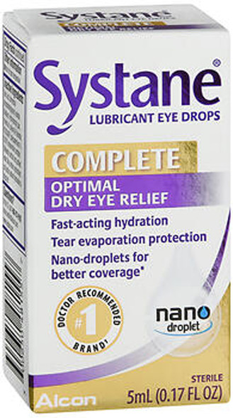Systane Complete Optimal Dry Eye Relief Lubricant Eye Drops - 5 ml