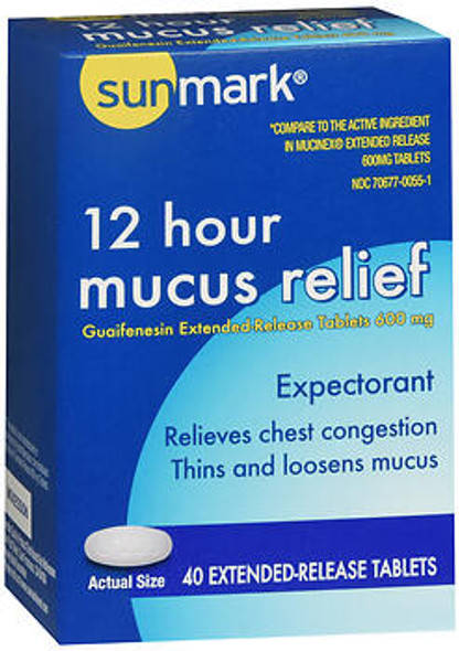 Sunmark 12 Hour Mucus Relief Tablets - 40 ct