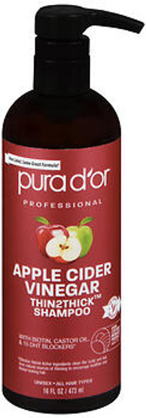 Pura d'Or Apple Cider Vinegar Thin2Thick Shampoo - 16 oz