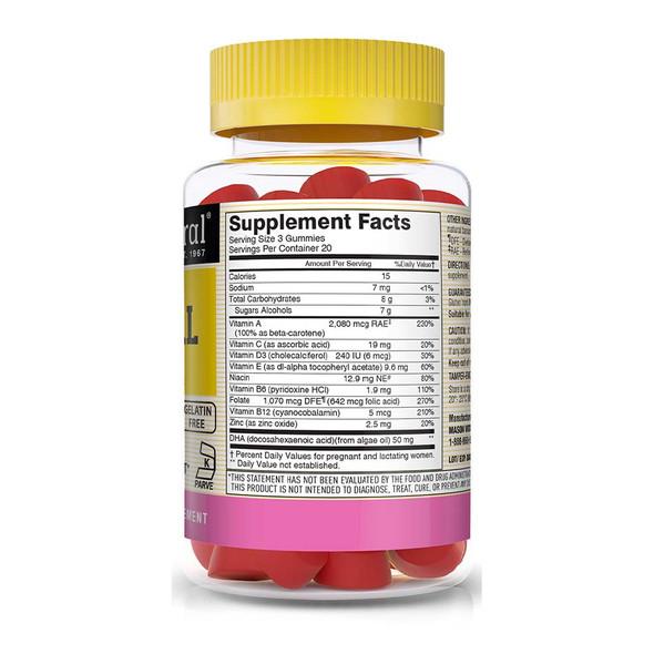 Mason Natural Sugar-Free Prenatal Multivitamin with DHA & Zinc - 60 Gummies
