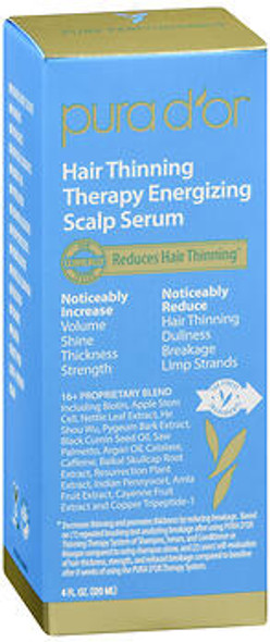 Pura d'Or Hair Thinning Therapy Energizing Scalp Serum - 4 fl oz