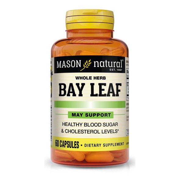 Mason Natural Whole Herb Bay Leaf 150 mg - 60 Capsules