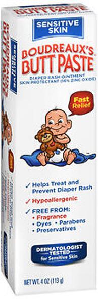Boudreaux's Butt Paste Diaper Rash Ointment Sensitive Skin - 4 oz