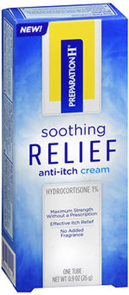 Preparation H Soothing Relief Anti-Itch Cream - 0.9 oz
