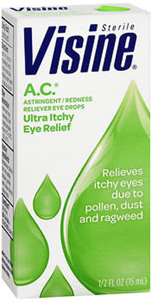 Visine A.C. Astringent/Redness Reliever Eye Drops - 0.5 oz