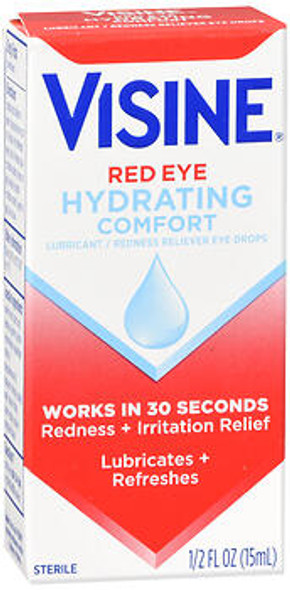 Visine Red Eye Hydrating Comfort Eye Drops - 0.5 oz