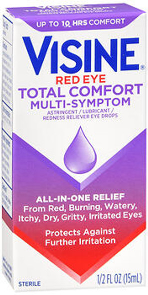 Visine Red Eye Total Comfort Multi-Symptom Eye Drops - 0.5 oz