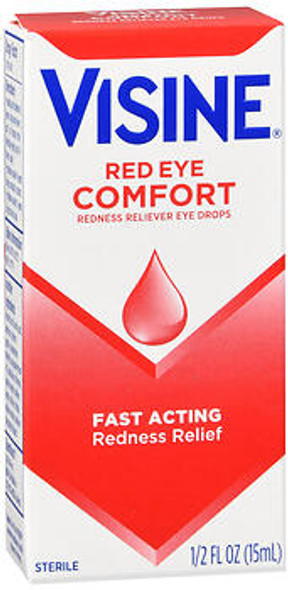 Visine Red Eye Comfort Eye Drops - 0.5 oz