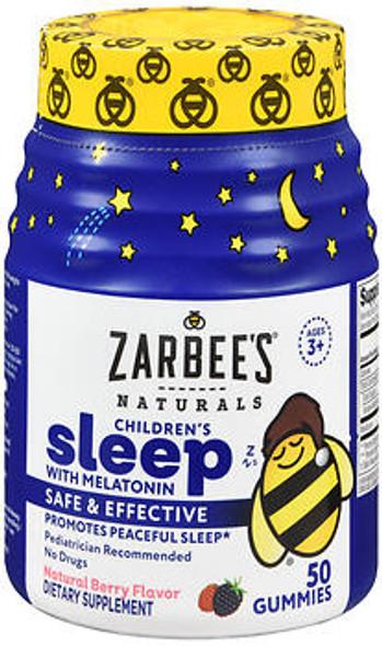 Zarbee's Naturals Children's Sleep with Melatonin Gummies Natural Berry Flavor - 50 ct
